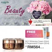 Esungcho Whitening Cream 50ml + Regeneration Cream 50ml, FREE Cleansing Foam & SAP