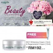 Esungcho Whitening Cream 15ml + Regeneration Cream 15ml, FREE Peeling Gel